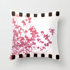 Holga x-processed pink spring tree Throw Pillow