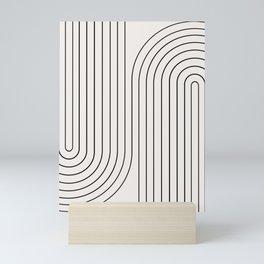 Minimal Line Curvature I Mini Art Print