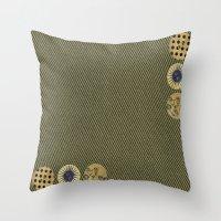 steam punk Throw Pillows featuring steam punk by Iris & Ino