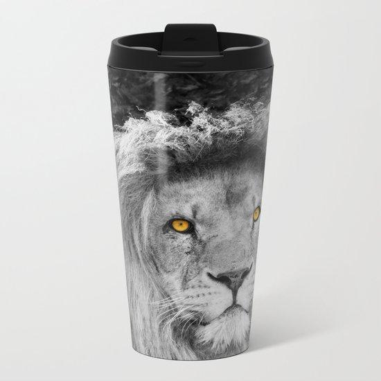 LION BEAUTY Metal Travel Mug