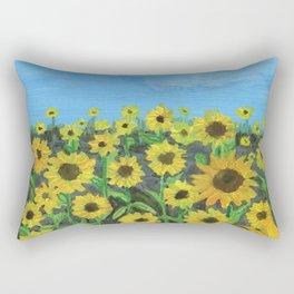 Sunflower Field Rectangular Pillow
