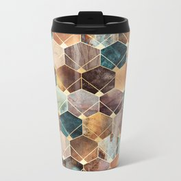 Natural Hexagons And Diamonds Metal Travel Mug
