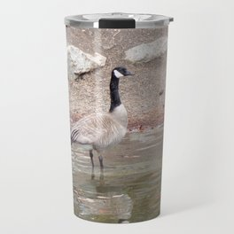 Majestic Fellow, Beautiful Canadian Goose On Pond,Wildlife Travel Mug