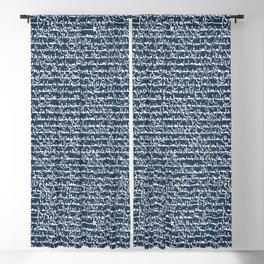 Ancient Arabic // Navy Blue Blackout Curtain