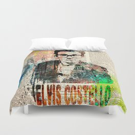ELVIS COSTELLO #on dictionary page Duvet Cover