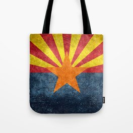 Flag of Arizona, Vintage Retro Style Tote Bag
