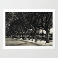 Night and lights Art Print