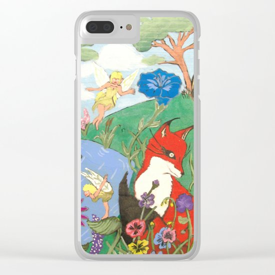 Fox And The Fairy Clear iPhone Case