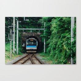 Tunnel Train Canvas Print