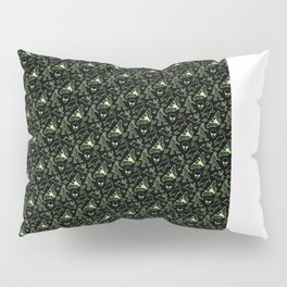 Cryptid Pattern: Green Lines Pillow Sham