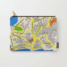 Salvador, Brasil Map Design Carry-All Pouch