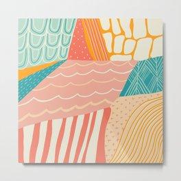 beach quilt Metal Print
