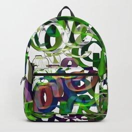 Love  Green Backpack
