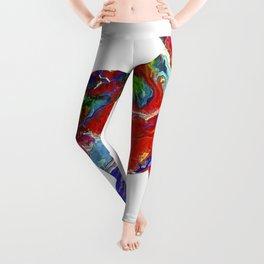 Horse Colorful Silhouette Leggings