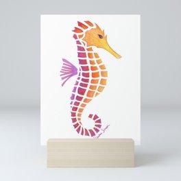 Sunset Seahorse Mini Art Print