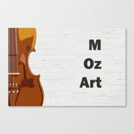 Violin and Mozart - classical music oil painting poster Canvas Print