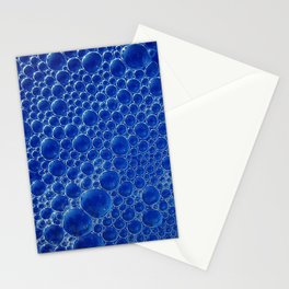 Champagne Bubbles Collection: #3 – Mediterranean Blue Stationery Cards