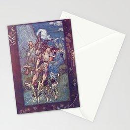 Arthur Rackham - Lamb's Tales from Shakespeare (1909) - Bottom and Titania (Midsummer Night's Dream) Stationery Cards