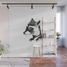 Ms. Raccoon Wall Mural