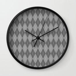 Black Plaid Wall Clock