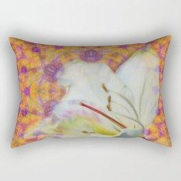 Bauhinia on vibrant kaleidoscope Rectangular Pillow
