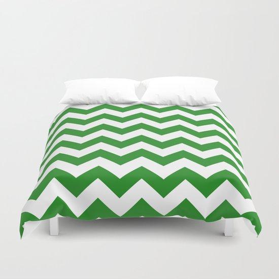 Chevron (Forest Green/White) Duvet Cover