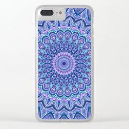 Purple Passion - Mandala Art Clear iPhone Case