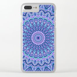 Purple Passion - Mandala Art Clear iPhone Case