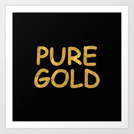 Pure Gold Art Print