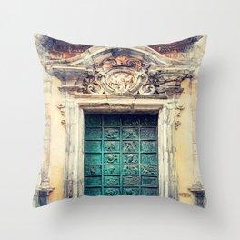 Trapani art 22 Sicily Throw Pillow