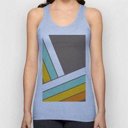 Retro 70s Stripes  -  Abstract Geometric Design Unisex Tank Top