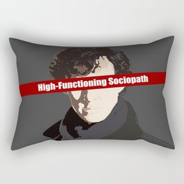 Sherlock: High-Functioning Sociopath Rectangular Pillow