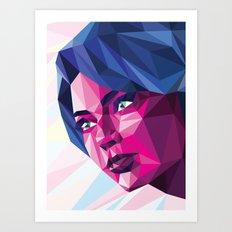 Magenta girl Art Print