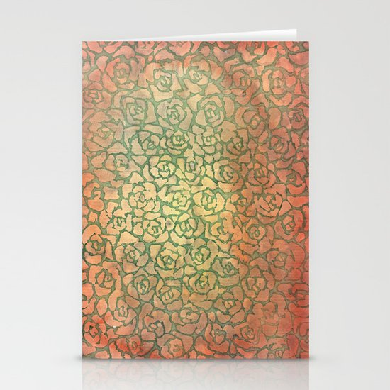 roses pattern Stationery Cards