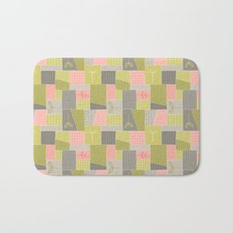 Seedlings - Gray / Rose / Green Bath Mat