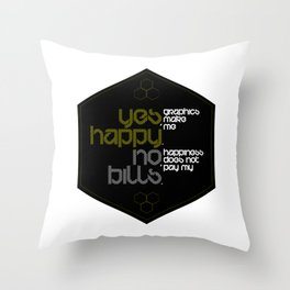yes & no Throw Pillow