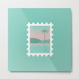 Postage Stamp - Best Coast Metal Print