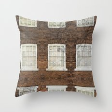 Neighboring windows Throw Pillow