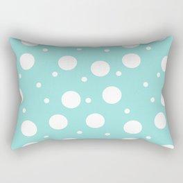 dots pattern: mint Rectangular Pillow