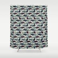 camo Shower Curtains featuring Cat Camo by sheena hisiro