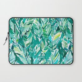 BANANA LEAF JUNGLE Green Tropical Laptop Sleeve
