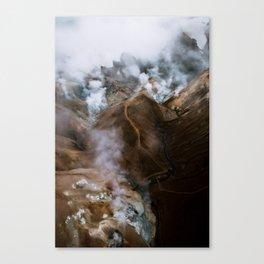 Kerlingarfjöll mountain range in Iceland - Aerial Landscape Photography Canvas Print