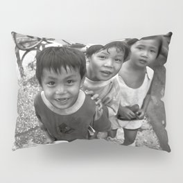 Vietnamese Children with a goldfish  Pillow Sham