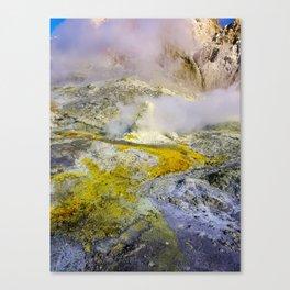 White Island Active Volcano Canvas Print