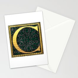 Monogram Letter 'C' Initial Stationery Cards