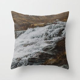 Waterfalls in Glen Etive, Scotland Throw Pillow