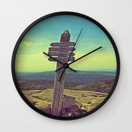 Penobscot Mountain Sign Wall Clock