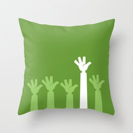Hands Up Throw Pillow