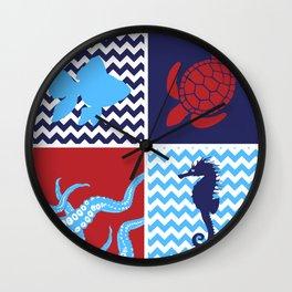 Life in the sea Wall Clock