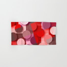 dots & squares red Hand & Bath Towel